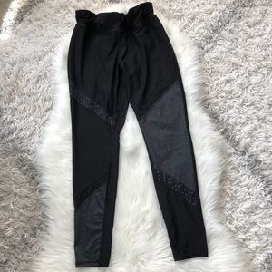 Black and Gray workout leggings size large